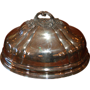 Antique Sheffield Silver Plate over Copper and Sterling Silver Meat Dish Dome / Cover, Plated 19th century