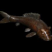 19th century Japanese Meiji Period Bronze Model of a Carp Fish Statue Antique