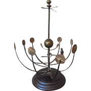 Early 19th century Brass Orrery or Planetarium, or Scientific Model of the Solar System Very Rare