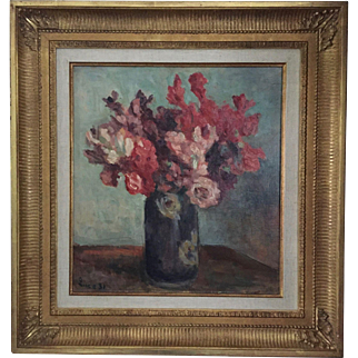 Original Maximilien Luce Floral / Flowers Still Life Oil Painting, signed and dated Impressionist / Modern