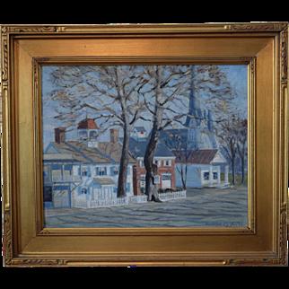Nantucket Scene Oil on Canvas by Rudolf Czufin (1899-1978)