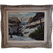 """""""Snow in the Mountains"""" oil on canvas by Margaret Crowninshield Wilby 1890 - 1968"""
