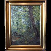 """Untitled"" Oil on Canvas by Danish Painter Jens P. Pederson 1913"