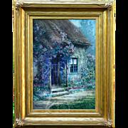 "Mary Vernon ""The Cottage Door"" Gouache on Board"