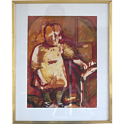 "Carol Wald ""Young Child"" Gouache on Paper"