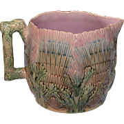 Majolica Etruscan Shell and Seaweed Pitcher