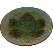 George Jones Majolica Leaf and Fern Cake Stand