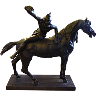 """Jester on Horse"" Bronze Statue by Antoine Louis Barye"