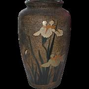 Japanese Tree Bark Cloisonné Vase