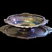Elkington Silver Plated Oval Serving Bowl 1884