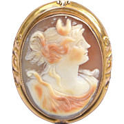 Antique Carved Shell Cameo Pin Brooch/Pendant
