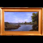 "Thimgan Hayden ""Slow River"" Oil on Canvas"