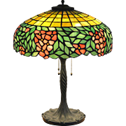 Mosaic Glass Table Lamp by Unique Art Glass & Metal Co.