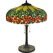 Mosaic Glass Table Lamp Attributed to Unique Art Glass & Metal Co.