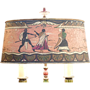 Egyptian Revival Table Lamp Circa 1920's made in France