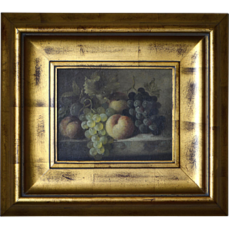 C. Madsan Still Life Oil on Canvas ca. 1880's