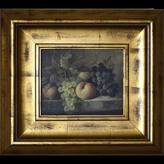 C. Madsan Still Life Oil on Canvas ca. 1880's