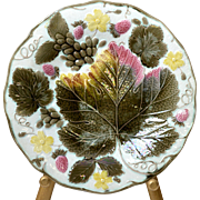 Wedgwood Majolica Maple Leaf and Berry Plate