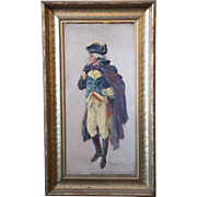 "Silas Martin 1841-1906 ""George Washington"" Oil on Board"