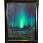 "Dan Clark ""The Aurora Borealis"" Oil on Canvas Painting"