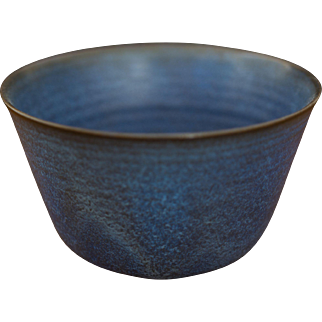 Gertrud & Otto Natzler Blue Glazed Bowl circa 1950s