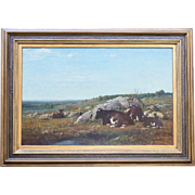 James McDougal Hart Oil on Canvas Original Signed ca. 1886