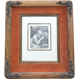 """Hendrik Goltzius Lifetime Engraving """"St. Peter"""" Dated 1589 comes with COA"""