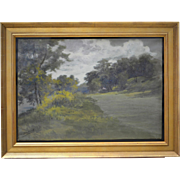 Edmund Henry Osthaus Rare Serene Landscape Gouache and Watercolor on Heavy Paper