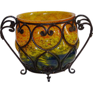 Delatte Nancy Art Glass Bowl
