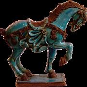 Antique Japanese Ceramic Horse