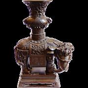 East Indian Bronze Elephant Sculpture