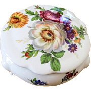 French Jewelry Box Floral Limoges Porcelain