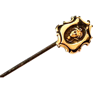 Art Nouveau Lady Stick Pin or Hat Pin