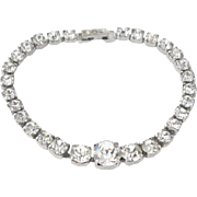 Kramer Rhinestone Bracelet, Art Deco 1940s Vintage Jewelry SALE