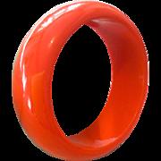 Bakelite Orange Bangle Bracelet 1940s Art Deco Vintage Jewelry SALE