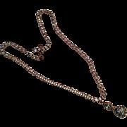 Weiss Sparkley Blue Glass Rhinestone Pendant Necklace Art Deco 1940s Bridal Vintage Jewelry SUMMER SALE