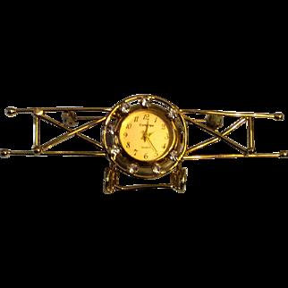 Bi Plane Quartz Watch, Rhinestones, Signed Contempo, Vintage