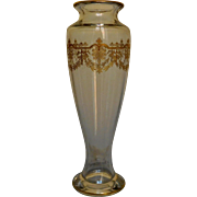 Baccarat Crystal France - gilt vase, Beauharnais Pattern, Empire style circa 1900