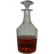 Baccarat Crystal France - Whisky, Brandy, Cognac decanter from the 1850's