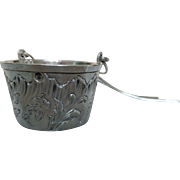 Antique French sterling silver tea strainer, Louis XV style, Louis Coignet