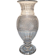 Tall Baccarat French crystal vase Medicis / Euridice