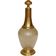 French antique crystal and vermeil wine decanter