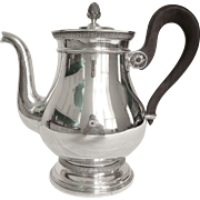 Cardeilhac : French sterling silver teapot, Empire style, Christofle Malmaison pattern