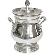 Cardeilhac : French sterling silver sugar pot, Empire style, Christofle Malmaison pattern