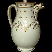 French Empire gilt teapot Paris Porcelain circa 1820