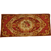 French antique Aubusson rug, 19th century