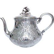 Odiot : very large antique French sterling silver tea pot - 956g
