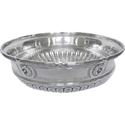 Antique French sterling silver bowl, Louis XVI style, late 19th century