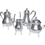 Puiforcat : antique French sterling silver coffee and tea set