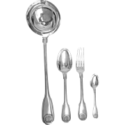 French sterling silver flatware set - 37 pcs - Christofle